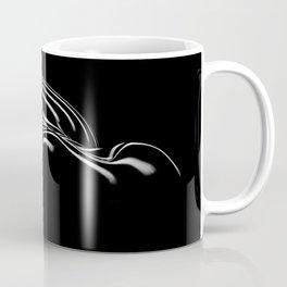 0694- Nude Female Naked BBW Geometric Black White Naked Body Big Abstracted Sensual Sexy Erotic Art Coffee Mug