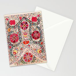 Lakai Suzani Uzbekistan Central Asian Embroidery Print Stationery Cards