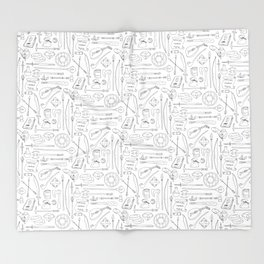 Fantasy Adventuring Equipment Throw Blanket