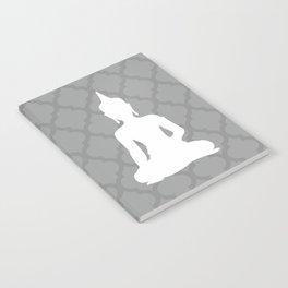 Grey and White Buddha Notebook