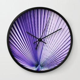 Art Palm Leaf Wall Clock