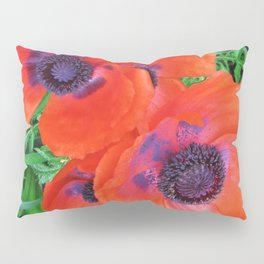 Red Poppies Pillow Sham