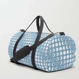 Moon Phases Pattern with Geometric Design Duffle Bag