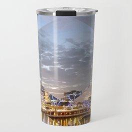Brisbane City River - A gorgeous Geometric Print Travel Mug