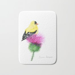 Little Goldfinch by Teresa Thompson Bath Mat