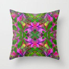 Floral Fractal Art G374 Throw Pillow