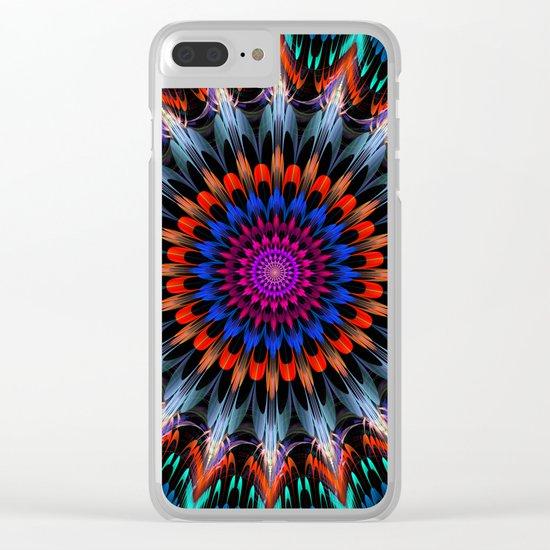 Full Bloom, multi-color design Clear iPhone Case