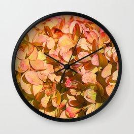 Cream and Pink Hydrangeas Wall Clock