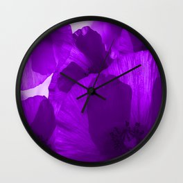 Ultra Violet Poppies #decor #society6 #buyart Wall Clock