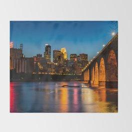 Stone Arch Bridge Illuminated Throw Blanket