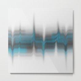 Gray & blue blended print Metal Print