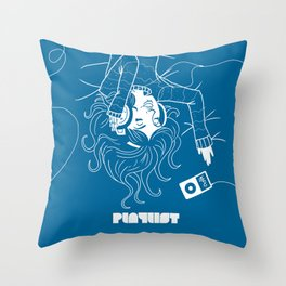 Köpke's Playlist Throw Pillow