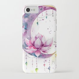 Moon with Lotus iPhone Case