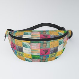 Buddha Patchwork Painting Fanny Pack