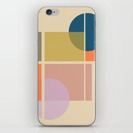 Modern geometric shapes iPhone Skin