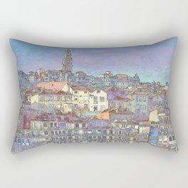Oporto, the Ribeira district in pastel colours Rectangular Pillow