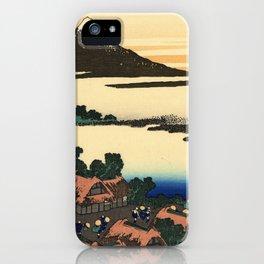 Katsushika Hokusai - 36 Views of Mount Fuji (1832) - 45: Dawn at Isawa in Kai Province iPhone Case