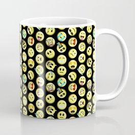 Emojis on black background Coffee Mug