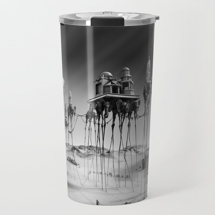 -Caravan Dali-   black and white Travel Mug