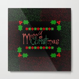merry christmas Metal Print