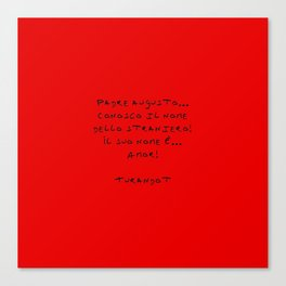 Turandot 3 red Canvas Print
