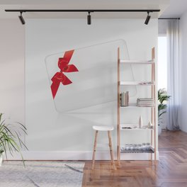 Card with red bow Wall Mural