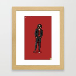 Ali Primera POP - TrincheraCreativa Framed Art Print