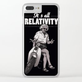 its all relativity Clear iPhone Case