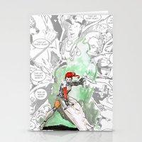 abigail larson Stationery Cards featuring Abigail by Matt Welch
