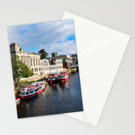 York City Guildhall and river Ouse Stationery Cards
