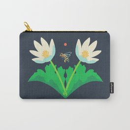 Honey Bee + Bloodroot Carry-All Pouch