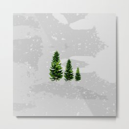 Three Cute Trees Metal Print