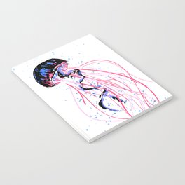 the dance - jellyfish and bubble (pink / purple) Notebook