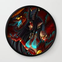 hydra Wall Clocks featuring Hydra Keeper by Studio-Aegis