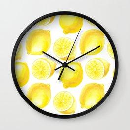 Lemons pattern design Wall Clock