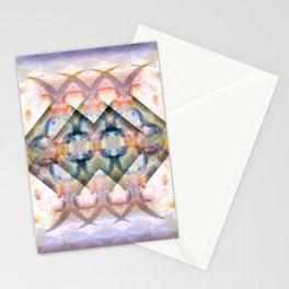 Multi-Colored Abstract Symmetry (Day) Stationery Cards