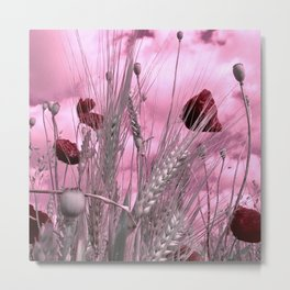 cornfield poppy abstract II Metal Print