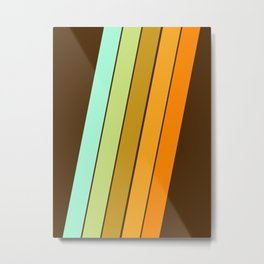 Fer Shure - retro throwback minimal 70s style decor art minimalist 1970's vibes Metal Print