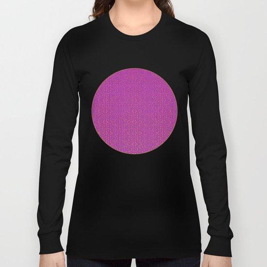 Purple Tribal Pattern Long Sleeve T-shirt