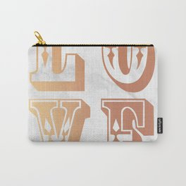 Rose Gold Marble Love Circus Typography Print Carry-All Pouch