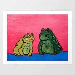 Toads in Thought Art Print