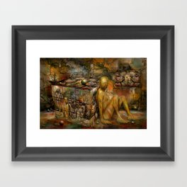 In Wartezustand ! Framed Art Print