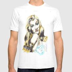 Veronica Lake White Mens Fitted Tee MEDIUM