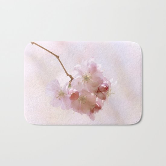 Cherry blossoms in Love - Cherryblossom Flower Floral Bath Mat