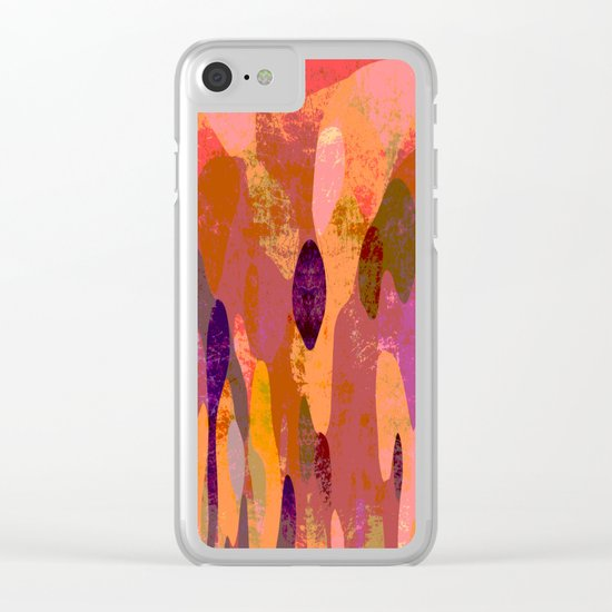 Baroque in red Clear iPhone Case