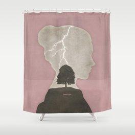 Charlotte Brontë Jane Eyre - Minimalist literary design Shower Curtain