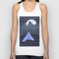 camping Tank Tops featuring Camping by Illusorium