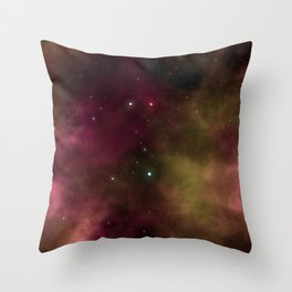 Pink Space Galaxy Throw Pillow