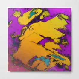 Yellow erosion Metal Print