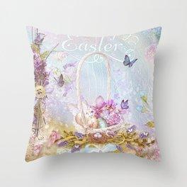 Lavender Easter Throw Pillow